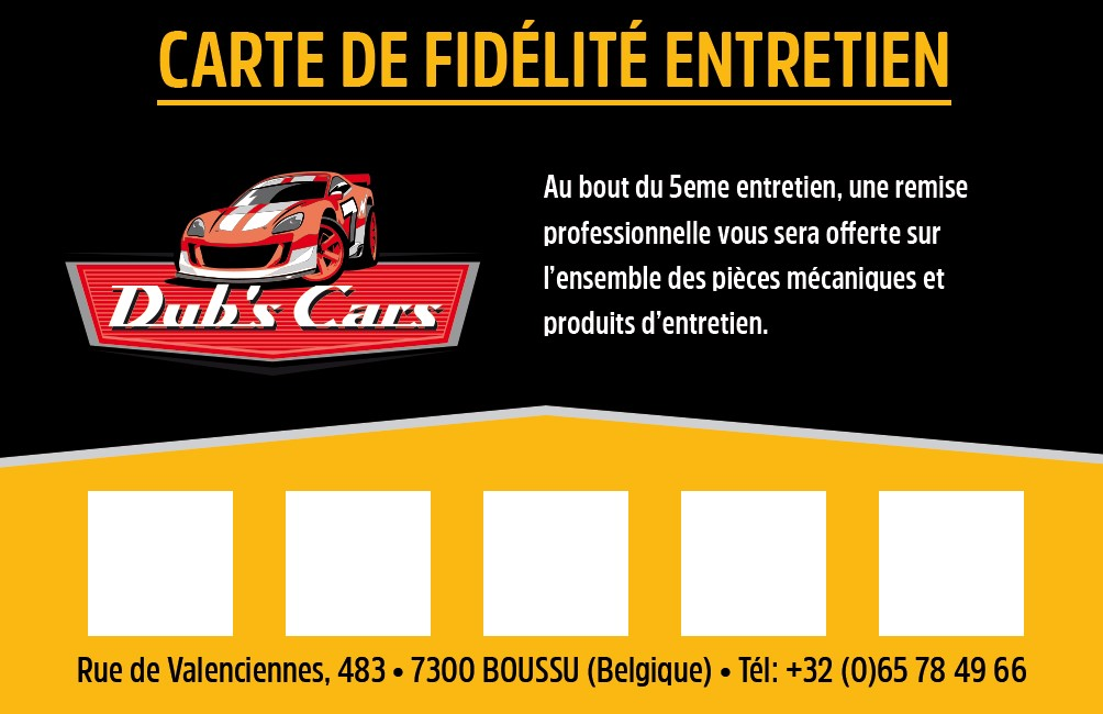 Carte De Fidelite Garage Dubs Car
